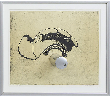 Hans hamngren, lithograph signed dated and  numbered 1974 35/310.
