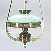 A jugend brass ceiling lamp.