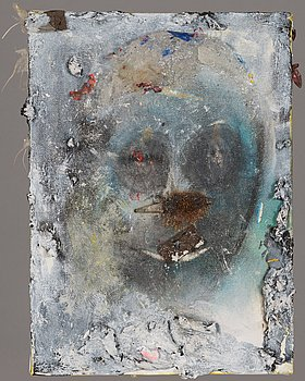 Jussi Goman, mixed media, a tergo signed and dated 2006.