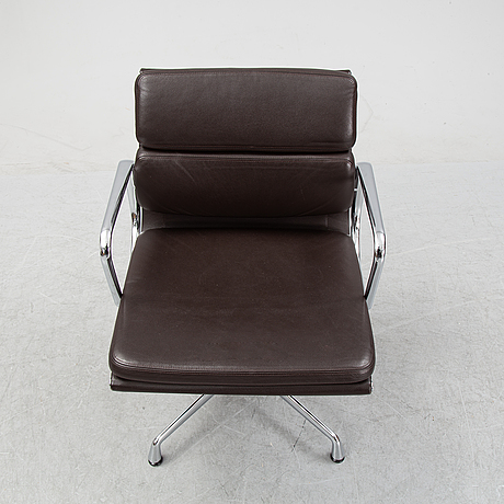 An ea 208 soft pad swivel chair by charles and ray eames for vitra, dated 2010.