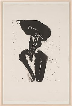 Jannis Kounellis, lithograph, signed, dated 10/21.