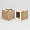 Frank gehry, two cubes of the easy edge series for vitra. the series designed in 1972.