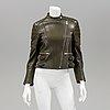 A celiné leather jacket, french size 36.