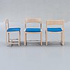 A danish 1960s dining table and 6 chairs,