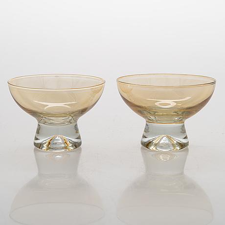 Tapio wirkkala, a set of 13 dessert bowls, model 2092, iittala, mid 20th century.