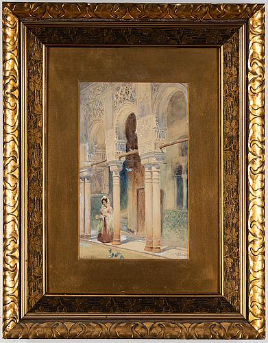 Frans wilhelm odelmark, akvarell, signerad.