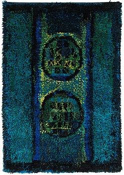 Leena-Kaisa Halme, a Finnish long pile rug for Neovius. Circa 170x120 cm.