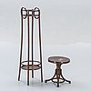 A pedestal and stool early 1900s.