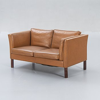 Sofa, leather, Denmark, second half of the 20th century.