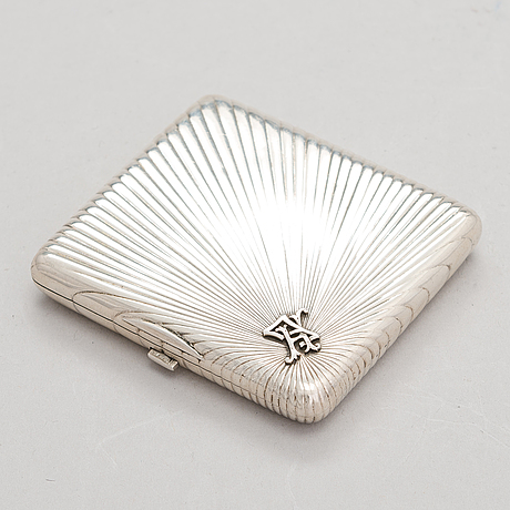 Johan allenius, cigarettetui, silver, s:t petersburg, ryssland 1898.