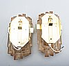 Wall lamps, 2 pcs, raf, second half of the 20th century.