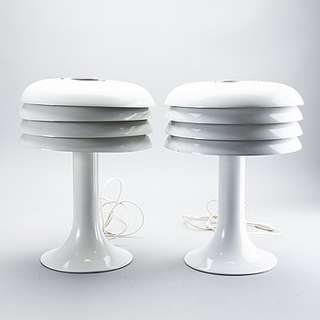 Hans-Agne Jakobsson, 2 pcs, table lamps, 1960s-70s.