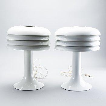 Hans-Agne Jakobsson, 2 pcs, table lamps, 1960s-70s.