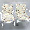 Josef frank, a set of five garden chairs later part of the 20th century.