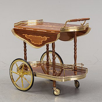 An Italian drinks trolley, second half of the 20th Century.