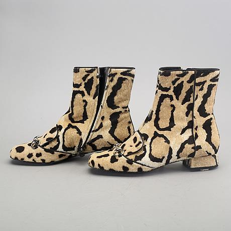 """Gucci, stövletter, """"leopard""""."""