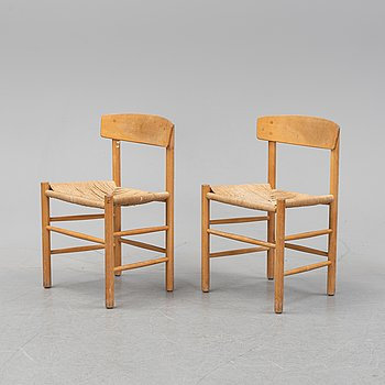 Børge Mogensen, a pair of model 'J39' chairs.