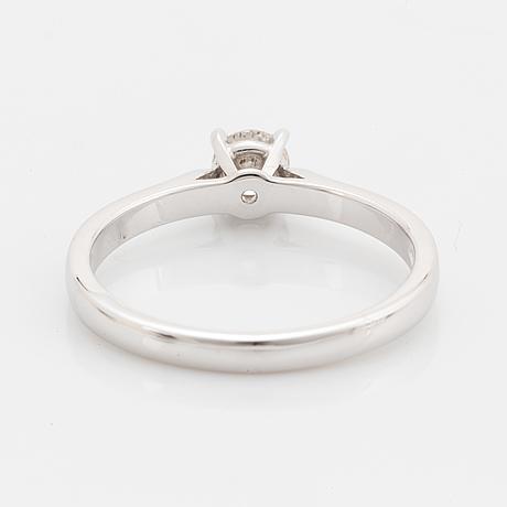 Brilliant-cut diamond ring, with report igi.