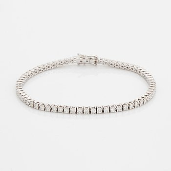 Brilliant-cut diamond bracelet, with certificate HRD.
