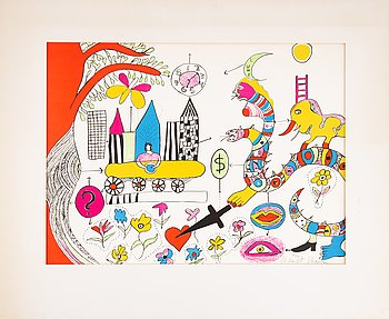 Niki de Saint Phalle, lithograph in colours, signed and numbured 130/300.
