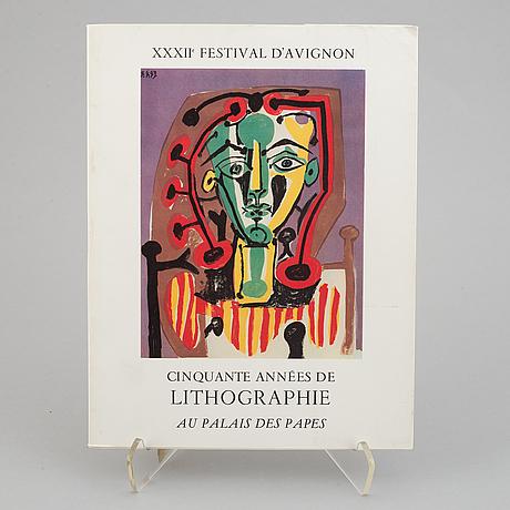 """Book, 'cinquante années de lithographie"""", au palais des papes, 1978. with an original lithograph."""