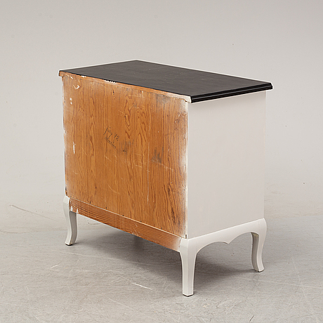 A painted chest of drawers, mid 20th century.
