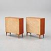A pair of teak veneered bookcases, mid 20th century.