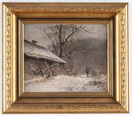 Niels fredrik martin rohde, oil on canvas, signed and dated 1875.
