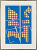 Sam vanni, silkscreen, signed and dated -88, märkt t.p.