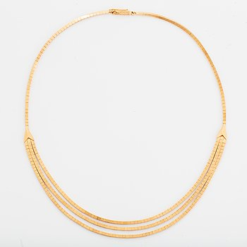 18K gold necklace, Uno A Erre, Italy.