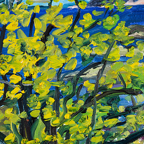 Lena cronqvist, oil on canvas, signed and dated 1989.
