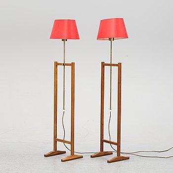 A pair of model 2548 floor lights by Josef Frank for Firma Svenskt Tenn.