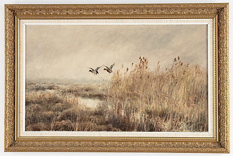 Mosse stoopendaal, oil on canvas, signed.