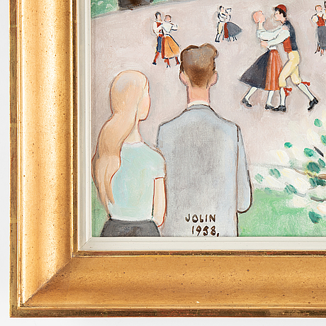 Einar jolin, oil on canvas, signed jolin and dated 1958.