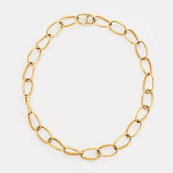 "An 18K gold Ole Lynggaard ""Love"" necklace."