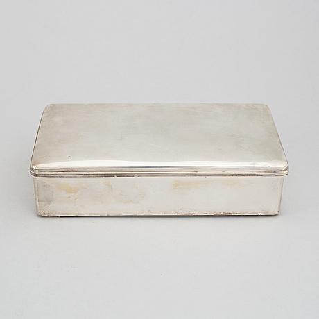 Cg hallberg, a silver cigar box, stockholm 1938.