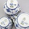 Tableware blue fluted halvblonde royal copenhagen denmark second half of the 20th century porcelain.