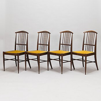 Kerstin Hörlin-Holmquist, a set of four  1970's 'Charlotte' chairs for Asko Finland.