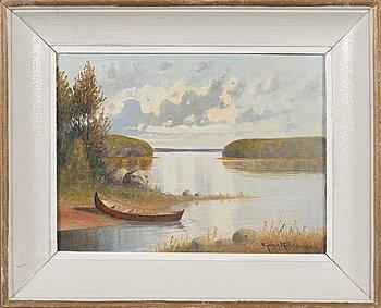 Ejnar Kohlmann, oil on panel, signed.
