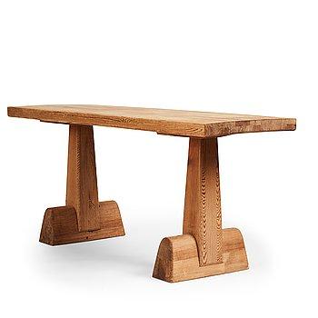 "315. Axel Einar Hjorth, a stained pine ""Utö"" table, Nordiska Kompaniet, Sweden 1930's."