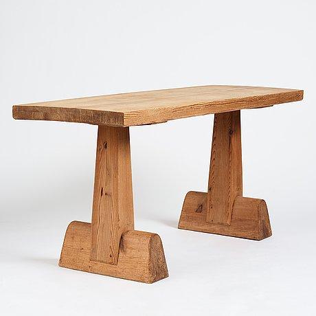 "Axel einar hjorth, a stained pine ""utö"" table, nordiska kompaniet, sweden 1930's."