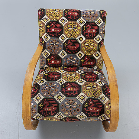 A swedish modern rocking chair around 1940.