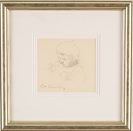 Lotte laserstein, drawing, signed.