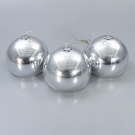 "Zumbotel, ceiling lights, 3 pcs, ""sconfine sfera""."