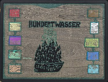 Friedensreich Hundertwasser,  folder signed and numbered 1649/3000.