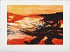 Zao wou-ki, a signed and numbered colour etching.