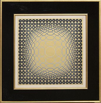 Victor Vasarely, a signed and numbered colour serigraph.