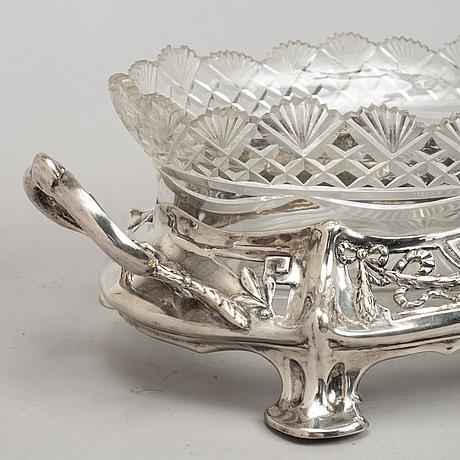 A danish silver jardiniere, mark of  christian f. heise, copenhagen early 20th century.