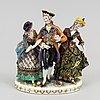 Figurgrupp, porslin, europa, tidigt 1900-tal.