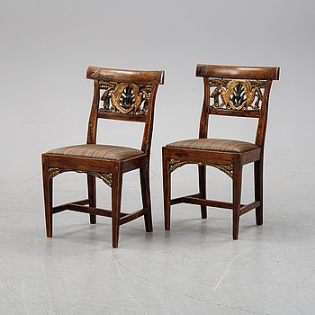 A pair of Danish chairs, first half of the 20th Century.